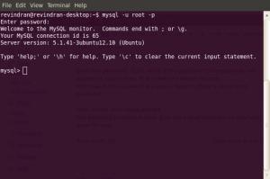 Starting MYSQL Terminal